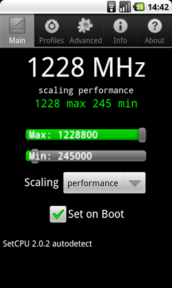 Nexus One Overclock a 1228 MHz
