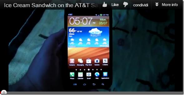 Android 4.0.3 Ics gira su Samsung Galaxy Note Video