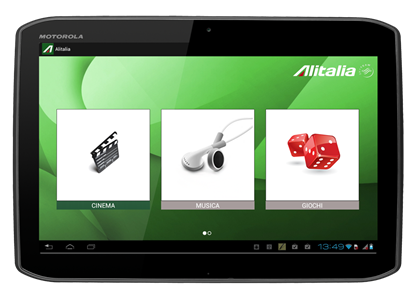 Motorola XOOM 2 - IFE use - content to choose from