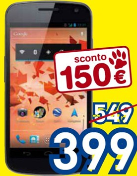 Samsung Galaxy Nexus a 399€ da Euronics