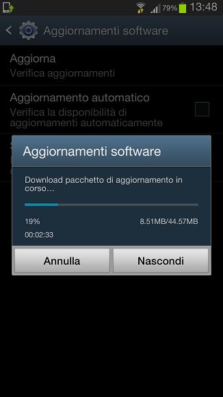 Aggiornamento Galaxy S3 AndroidLAB