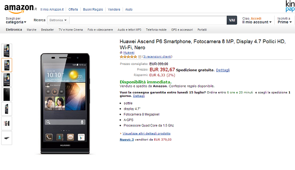 Huawei Ascend P6 Amazon.it