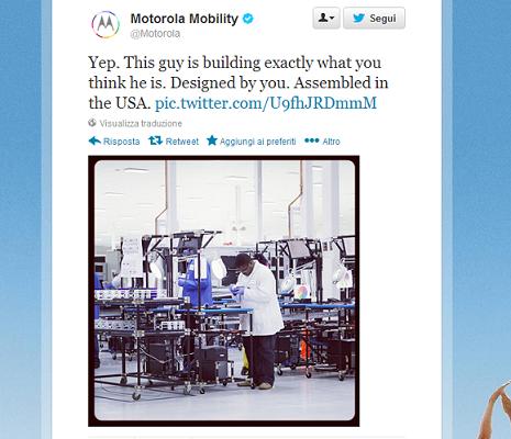 Moto X tweet