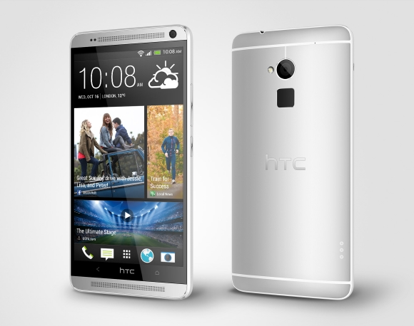 resized_HTC One max Glacial Silver Perspective Right