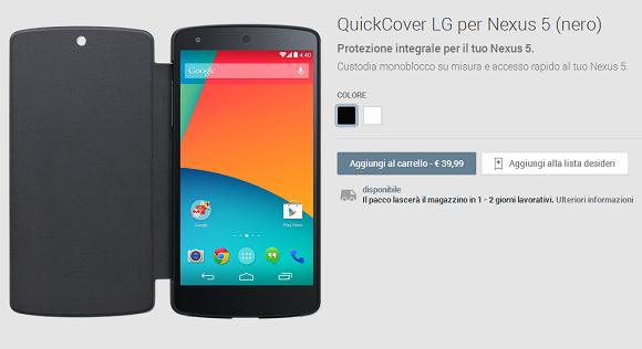 Nexus 5 cover nera