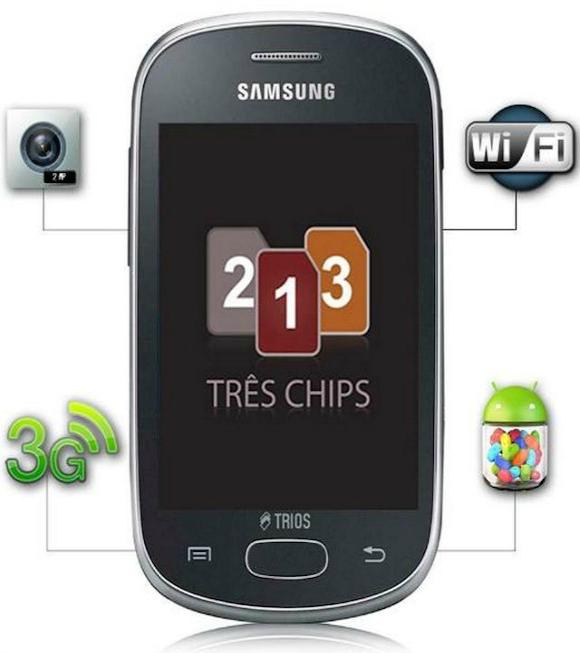 Galaxy Star Trios: smartphone Android con tre sim