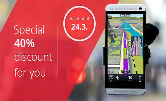 Sygic: GPS Navigazione: 40% di sconto su tutte le mappe