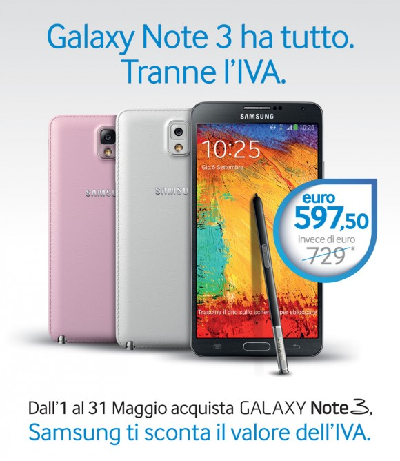 Samsung Galaxy Note 3 scontato